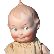Impish 10&quot; A.M. #252 Googly Eyed Kewpie-Type Character Baby