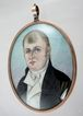 Fine Miniature Portrait on Ivory with a 14 Karat Gold Frame with Woven Hair