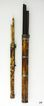 2 Meiji Period Japanese Tortoise Shell Travel Food Sets