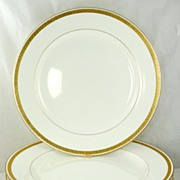 SOLD Quality Set of 8 Minton Gilded Porcelain Dinner Plates