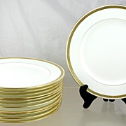 SOLD Set of 12 Quality Minton Gilded Porcelain Salad Plates