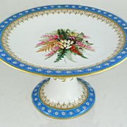 SOLD Old Royal Worcester Hand Painted Gilt Floral Compote
