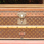 SOLD Louis Vuitton Antique French Steamer Trunk Luggage