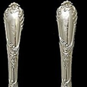 SOLD 2pc Turn of the Century Henri Soufflot French Sterling Silver & Ivory Salad Serving Set