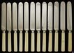 12 Well Made Carved Ivory Handle Knives Late 1800s Meriden Cutlery Co.