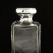 SOLD Fine Quality English Sterling Silver & Tortoise Shell Perfume Bottle Wm Comyns