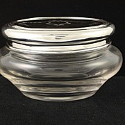 SOLD Fine Quality English Sterling Silver & Tortoise Shell Dresser Jar Wm Comyns