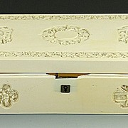Wonderful chinese Carved ivory Box for Parts Only