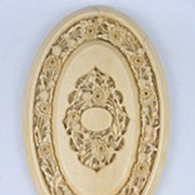 Beautifully Hand Carved Chinese Ivory Floral Hand Mirror