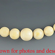 Turn of the Century Hand Carved Ivory Graduated Bead Necklace