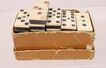 Full Set Bone & Ebony Dominoes 29 Pieces