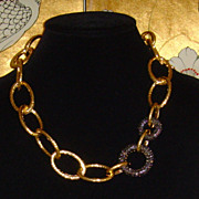 RJ Graziano Gold-Tone and Gunmetal-Tone Rhinestone Necklace