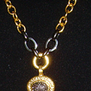 R.J. Graziano Gold-Tone and Rhinestone Tassel Necklace