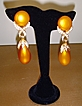 Simulated Pearl and Rhinestone Dangle Earrings