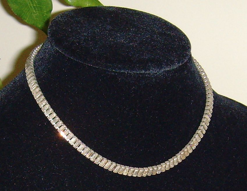 Baguette Cut Rhinestone Necklace