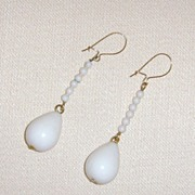 Lucite Teardrop Earrings