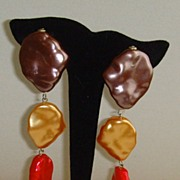 SALE Tri-Colored Simulated Pearl Earrings