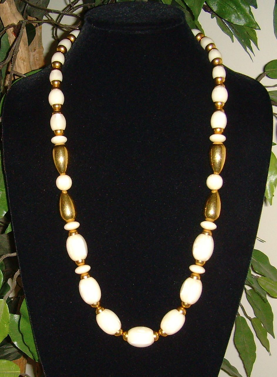Napier Gold-Tone and Lucite Necklace