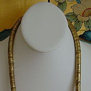 Gold-Tone Disc Necklace