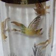 REDUCED Cocktail Shaker - Glass with Geese