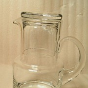 Tiffany Crystal Pitcher Tumble Up Signed