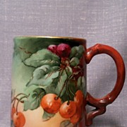 Limoges France Mug HP. Beautiful Early 1900's