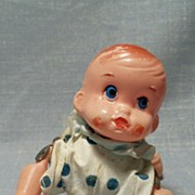 Vintage Toy, Celluloid Crawling Baby Works
