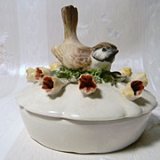 Sweet Porcelain Bird Trinket Box