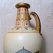 Rudolstadt  Large Bottle Hand Painted