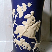 SALE Weller Chase Hunt Scene Vase