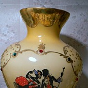 Vintage Art Glass Silhouette Case Glass    Must See