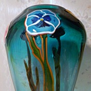 "Hand Blown Art Glass  13"" Signed and Dated"