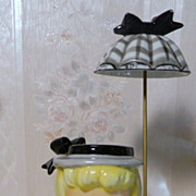 Napco Head Vase with Umbrella