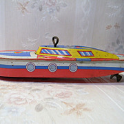Tin Windup Toy Boat Ohio Art