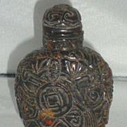 SALE Amber Snuff Bottle