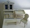 German Kitchen Gottschalk Antique doll house miniature kitchen matching furniture