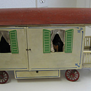 Antique Gottschalk German Wooden Caravan