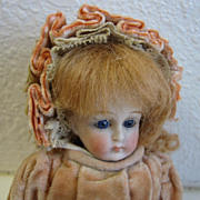 Rare Antique French Doll Mignonette by JULLIEN Jeune (1876-1903, Paris) 7""