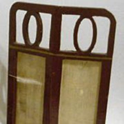 Antique doll house miniature German Gottschalk 2 panel screen