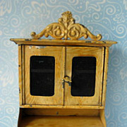 German antique doll house miniature Bookcase