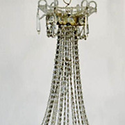 Antique c1900 French miniature Louise XVI style chandelier