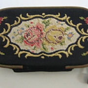 Antique French Miniature tapestry Necessaire includes Antique French Miniature tapestry Necess