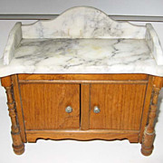 Antique Schneegas doll house marble sideboard or washstand