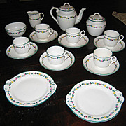 Minton Delicate Flower Band English antique toy tea set