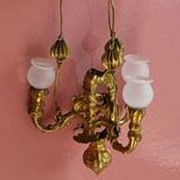 Antique Miniature Doll House Erhard & S�hne Ormolu chandelier