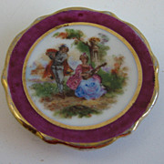 Antique French miniature doll house porcelain Limoges plates