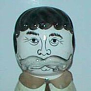 Antique porcelain head paper mache man