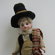 French Bisque boy Doll Mignonette 4 3/4""
