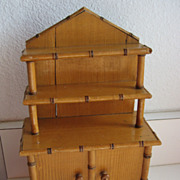 Antique French Maple Wood faux bamboo Doll Furniture in Rare Petite Size