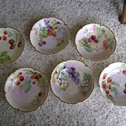 SALE Vintage Handpainted Haviland Dessert Bowls with Fruit